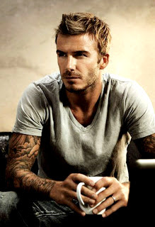 beckham jawline with little beard