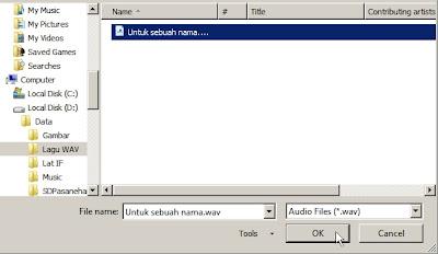 Memasukkan Musik ke file presentasi