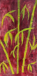 Bamboo On Red