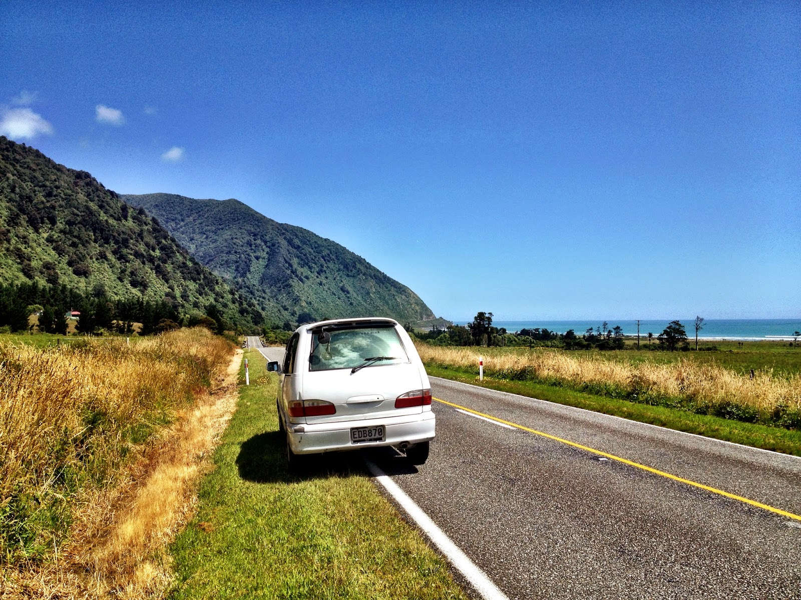 My first campervan in New Zealand - taken on the West Coast, South Island