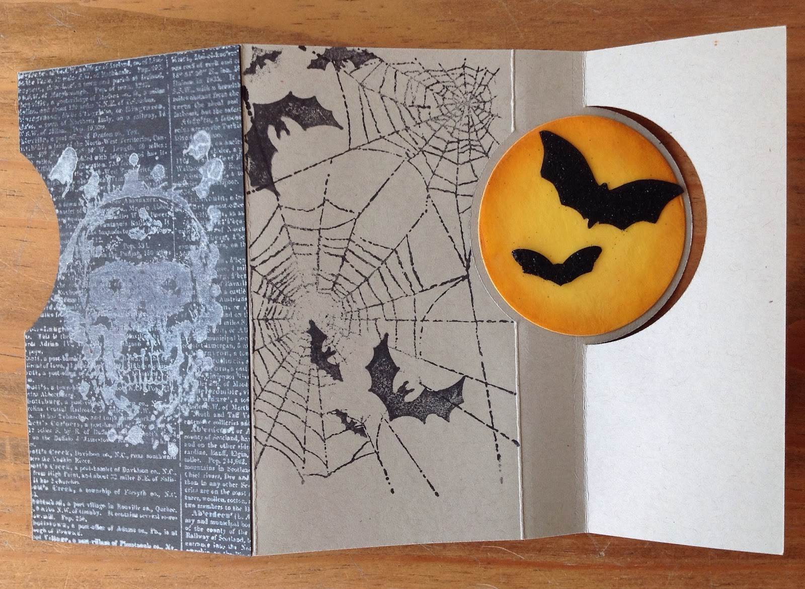 Halloweenkarten mit Stampin`up, La Blanche, Tim Holtz, Pop-up Karte