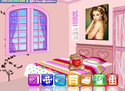 os gustar este juego de decorar la habitacin antes de la cita de san valentin podeis disear y decorar la cama armario ventana cortinas