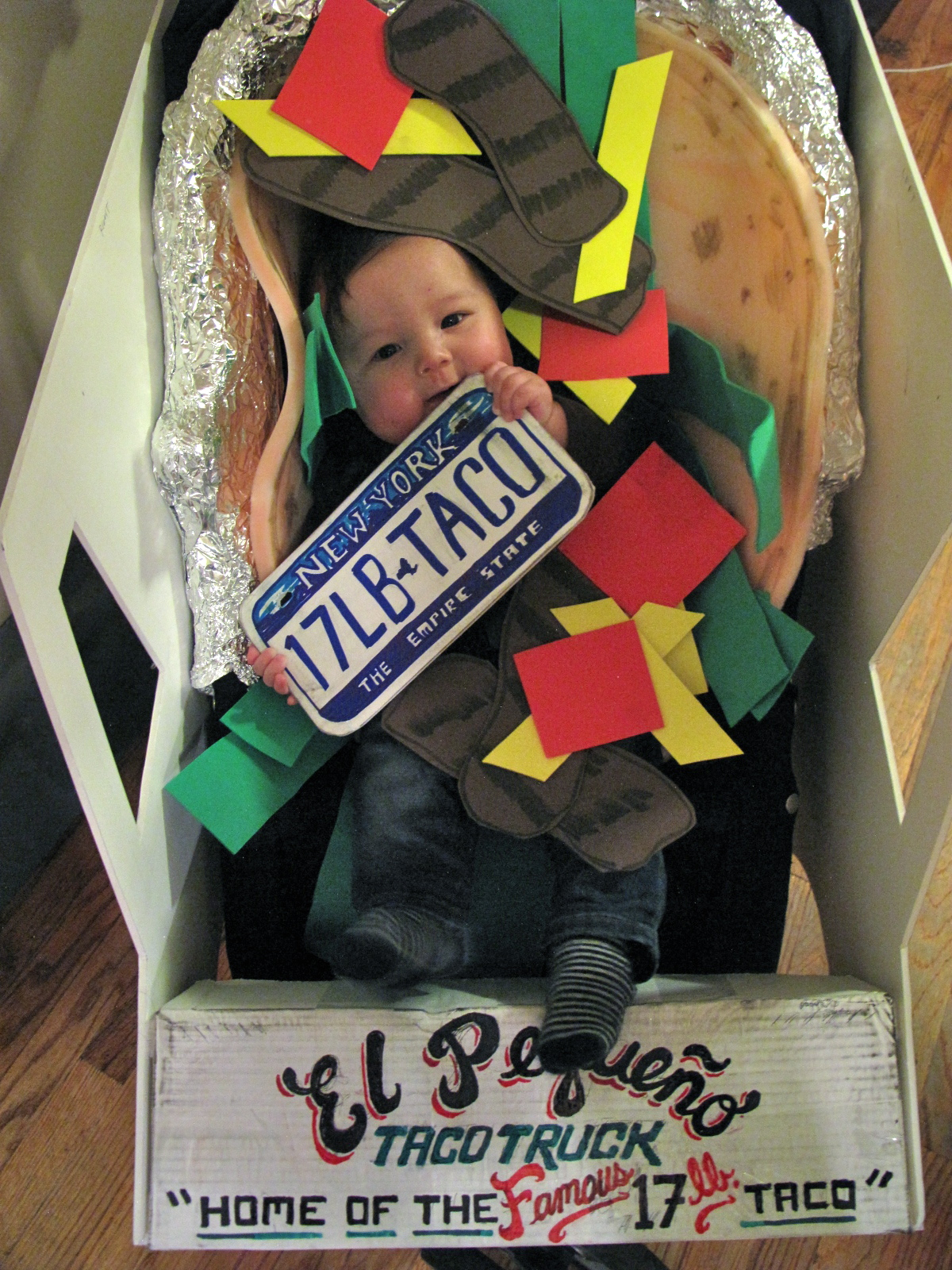 New york city family november 2011 diy halloween costume idea for babies and toddlers taco truck solutioingenieria Image collections