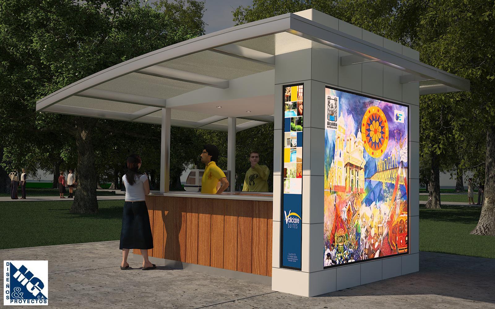 M g dise os y proyectos c a junio 2013 for Disenos de kioscos
