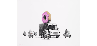 Donuts (Strawberry), 2009 Banksy Art