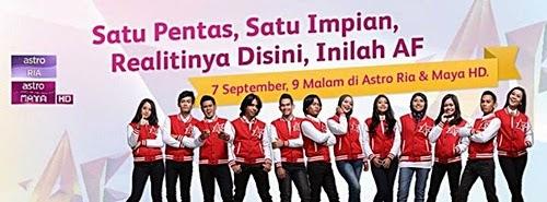 Lagu Akademi Fantasia AF 2014 Konsert Minggu Keenam, Senarai Lagu AF 2014 Konsert Minggu 6, tema lagu konsert AF minggu 6