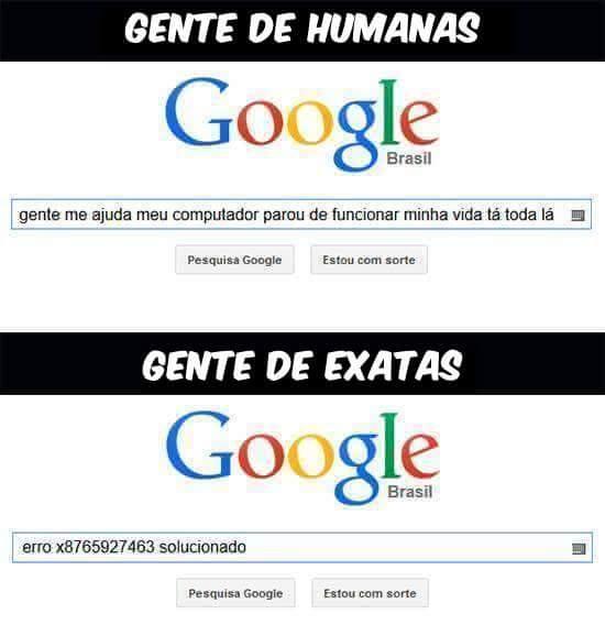 gente humanas gente exatas busca google