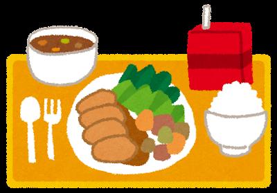 給食のお膳のイラスト