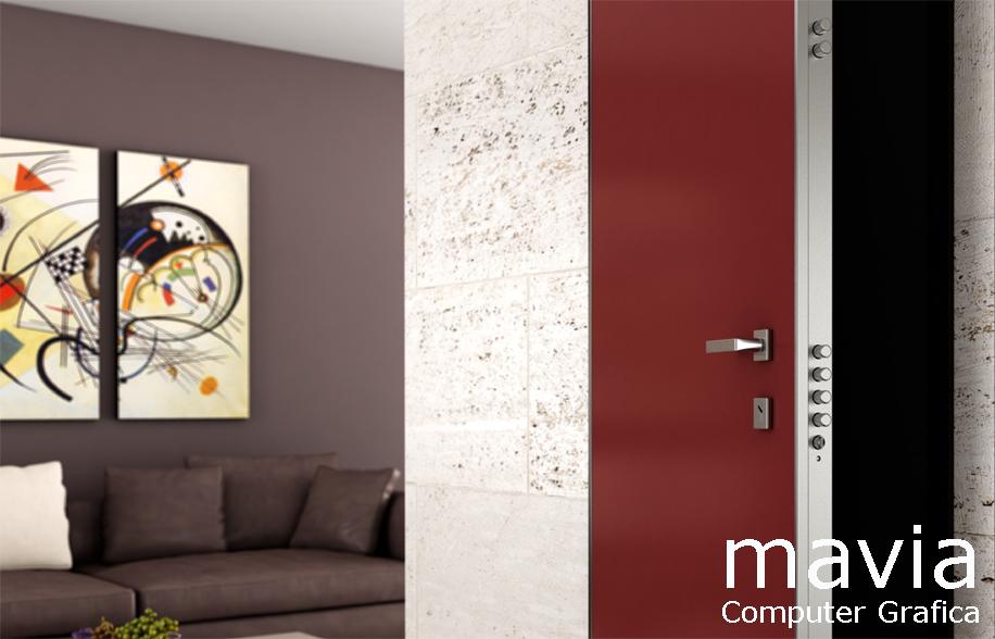 Arredamento di interni porte 3d i porte blindate - Maniglia per porta blindata ...