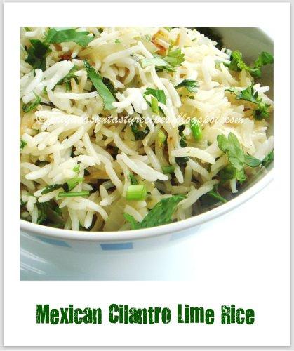 Priya's Versatile Recipes: Mexican Cilantro Lime Rice
