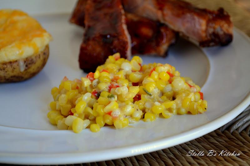 Stella B's Kitchen: Fresh Sweet Corn Casserole