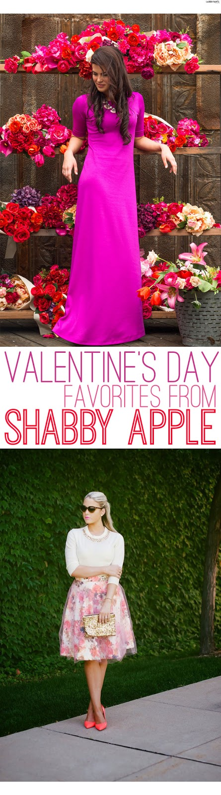 Find the perfect, flirty, feminine outfit for Valentine's Day from Shabby Apple!