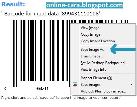 Cara Membuat Barcode Secara Online