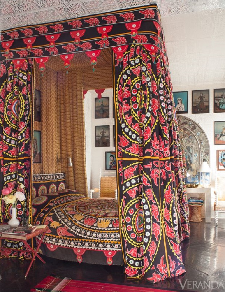 Suzani Canopy Bed