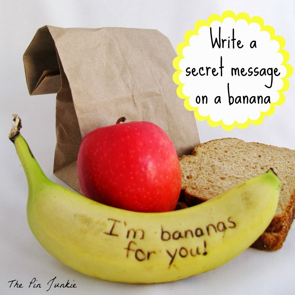 Write secret message on banana
