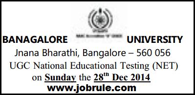 CBSE UGC NET 28th December 2014 Bangalore University (Centre Code-06) Subject/Roll Number Wise Seating Arrangement Plan