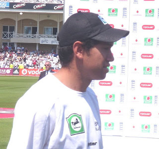 Ross Taylor in the presentation ceremony