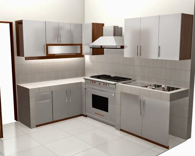 Kabinet dapur kecil dan simple home design idea for Harga kitchen set sederhana