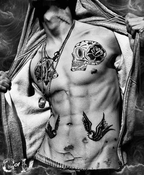 Tattoos on Chest for Men