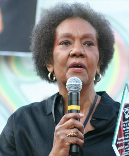 Dr. Frances Cress Welsing receives the Fannie Lou Hamer Community Award during 10th Annual National Black L.U.V. Festival in Washington D.C., Sept. 21, 2008. Elvert Xavier Barnes Photography