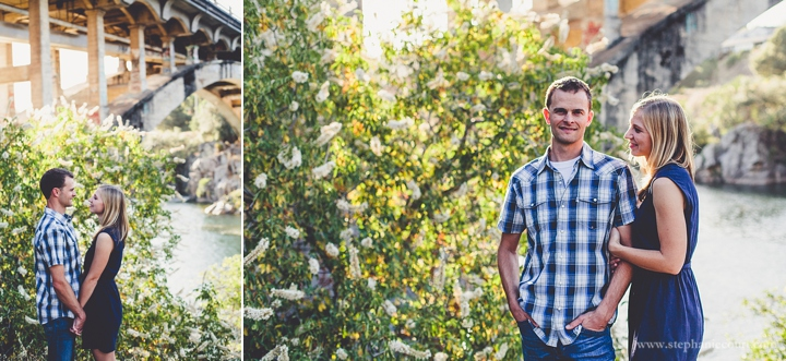 sunset engagement session photos folsom bridge