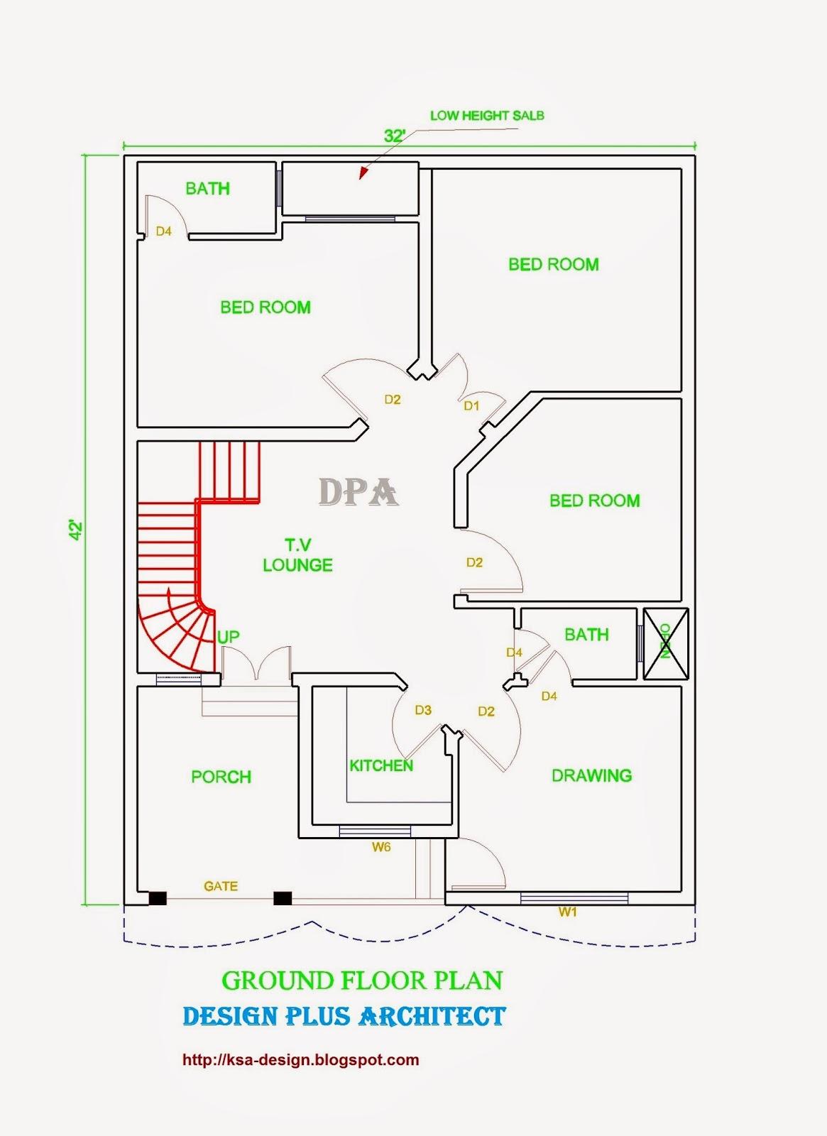 Home plans in pakistan home decor architect designer for Architecture 3d plan 2d