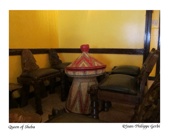 Image of the Inside of Queen of Sheba Ethiopian restaurant in NYC, New York