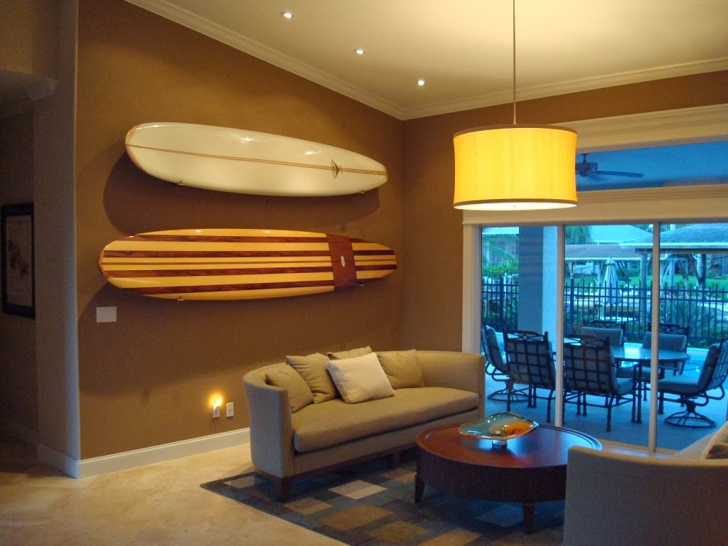 Surfboard Storage in Studio Apartment