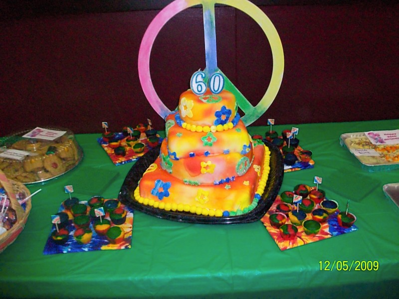 Kaylies Cupcakes 60s Theme 60th Birthday Party