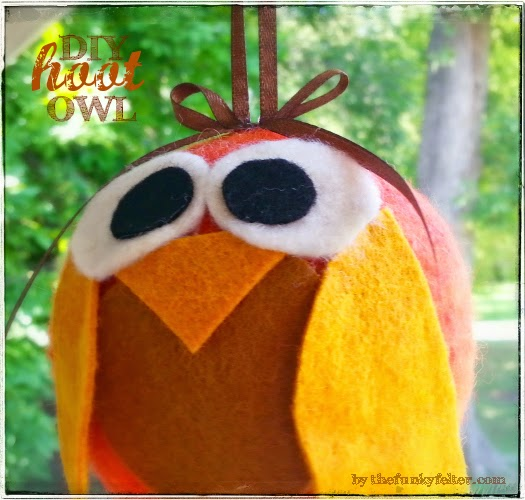 giant felt ball hoot own diy craft tutorial