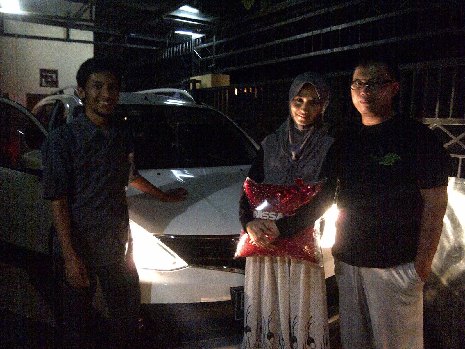Terimakasih atas kepercayaan Kang Rigit yang telah membeli Grand Livina X-Gear CVT melalui media www.touchnissan.com.  Semoga Berkah ya Kang...
