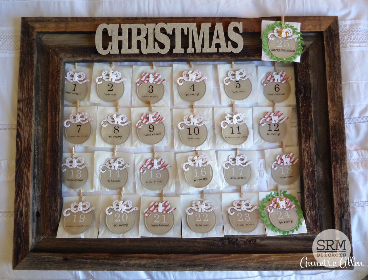 SRM Stickers Blog - Christmas Advent Calendar by Annette - #christmas #calendar #adventcalendar #stickers #glassinebags
