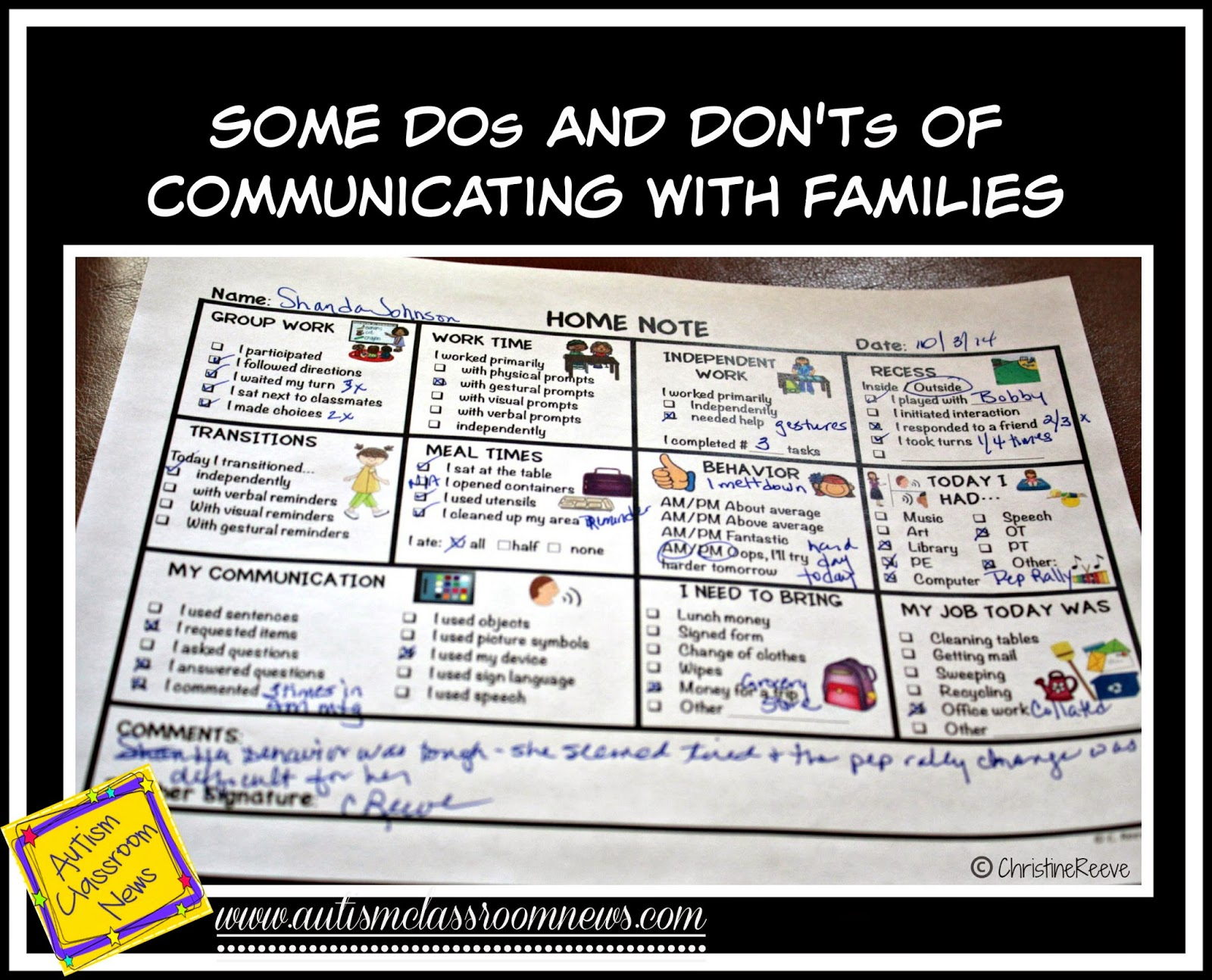 Effective home-school communication
