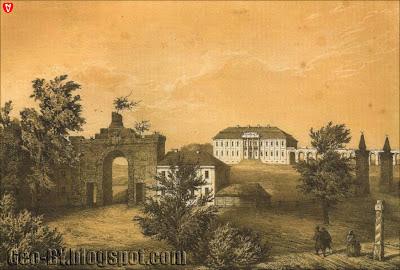Замок Сапег в Ружанах на рисунке Наполеона Орды