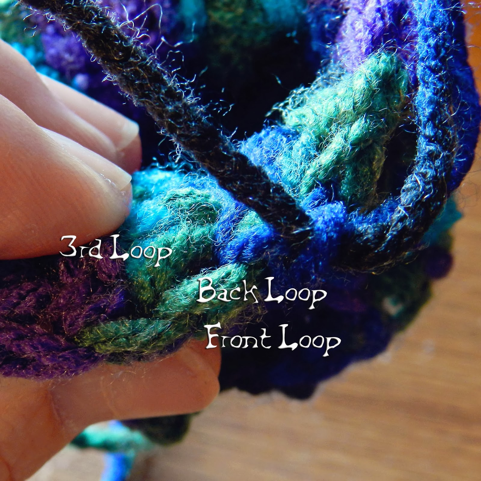 Crocheting In Third Loop : When working with crochet stitches, you normally see two loops - the ...