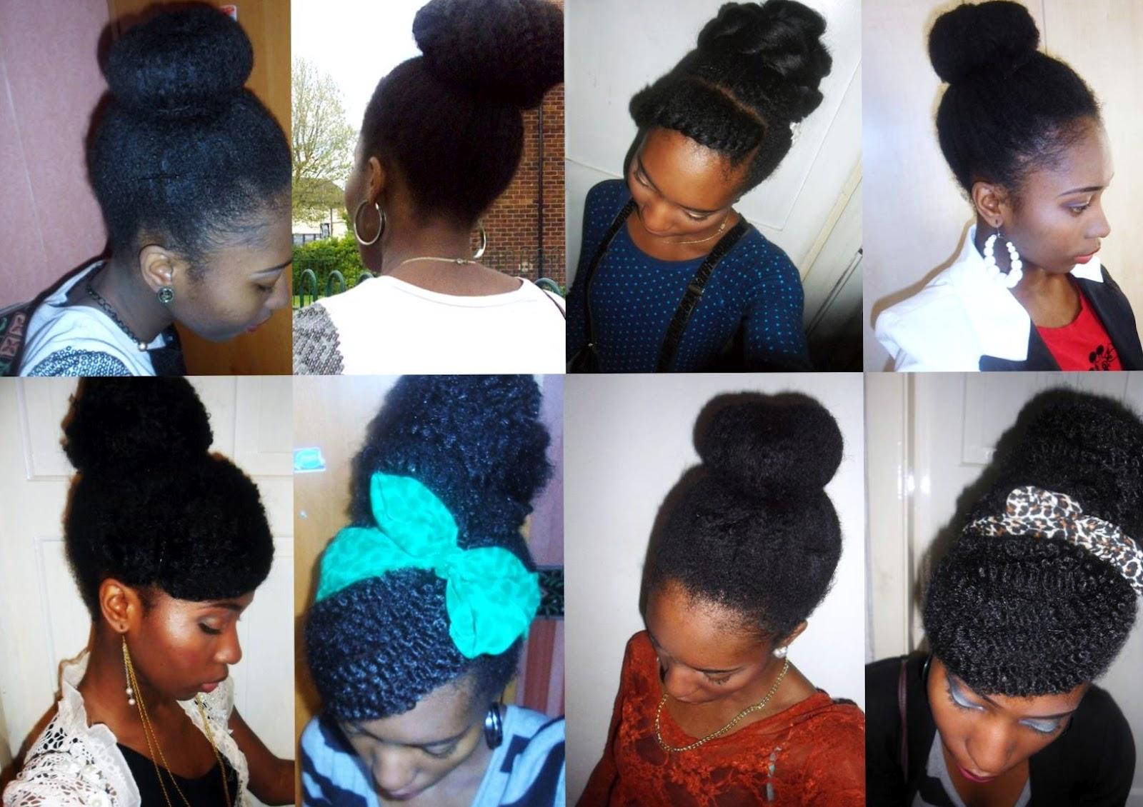 Project Rayray Natural Hair Protective Style Buns