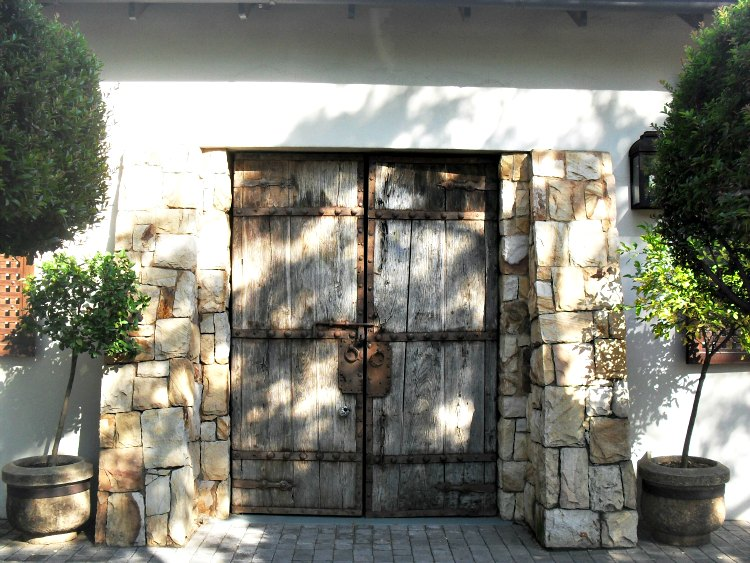 wooden shutter doors