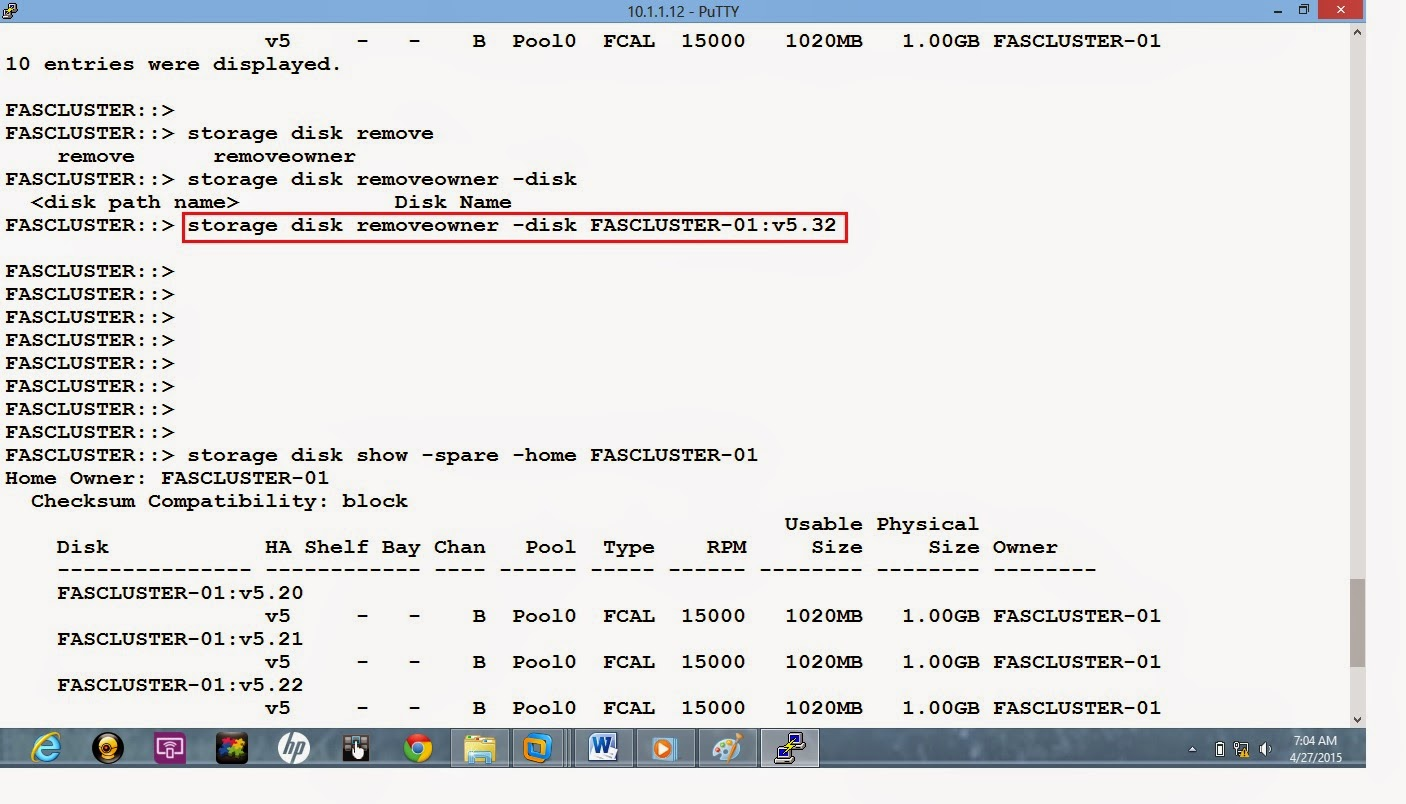 netapp disk assign Failed disk replacement in netapp if you use auto assign function then system will assign the disk to spare pool automatically otherwise use.
