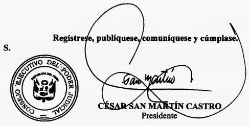 CESAR SAN MARTIN CASTRO, Presidente del Consejo Ejecutivo del Poder Judicial