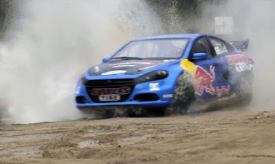 Watch Travis Pastrana hoon the world's only Dodge Dart rally car