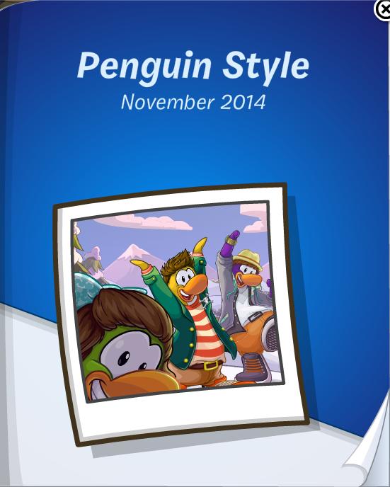 Club Penguin November 2014 Penguin Style Catalog Cheats