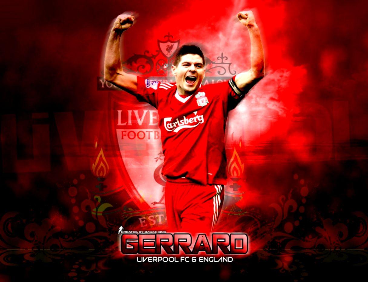 Steven Gerrard Liverpool Captain Background Wallpaper  Background