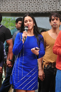 Actress Charmi Kaur Latest Pictures in Short Dress with R Rajkumar Movie Team at Yes Mart 0015
