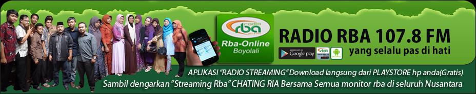 "Radio RBA 107.8 FM "" Boyolali"