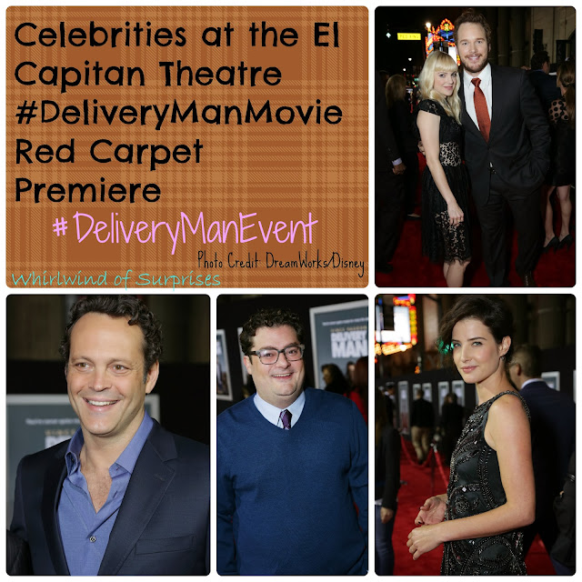 Celebrities at the El Capitan Theatre #DeliveryManEvent red carpet premiere