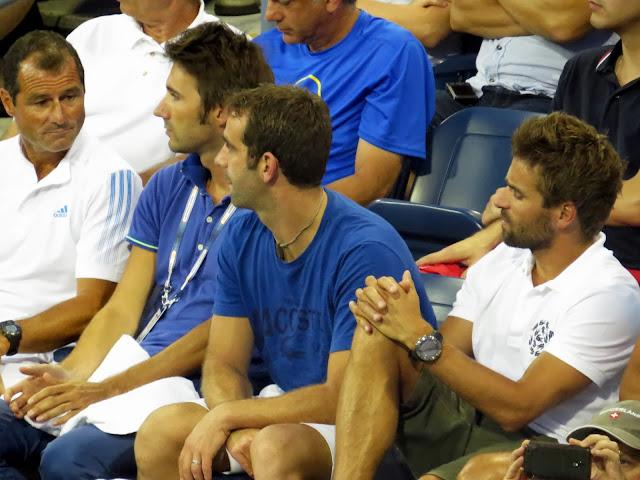 Arnaus Clement watching Richard Gasquet 2013 US Open