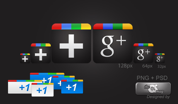 Google Plus Free PNG & PSD Icon Pack