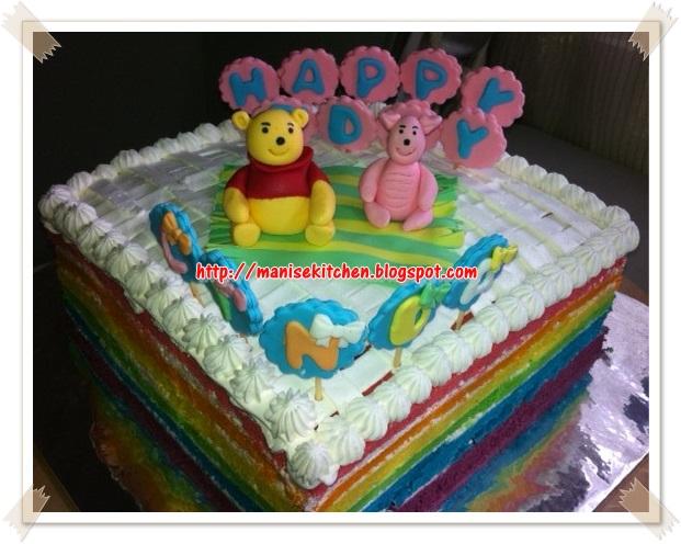 Manise Kitchen Rainbow Winnie The Pooh Birthday Cake For Linda Teresia