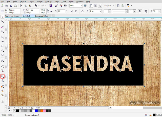 CorelDRAW Tutorial Carved Engraved Text Effect