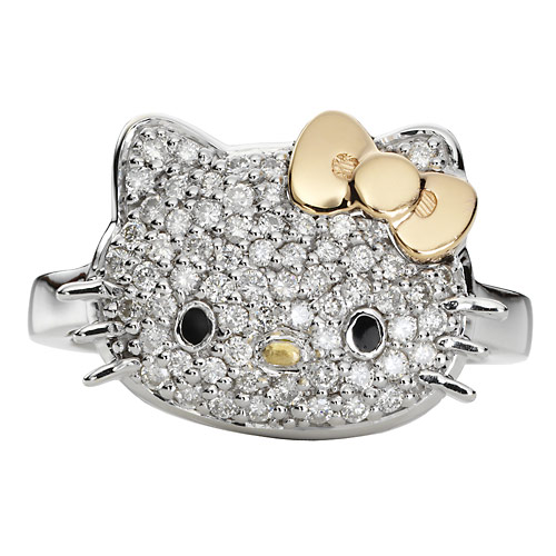 using a choice of materials of gold and dazzling diamonds that you can order your own there are many cute collection of hello kitty wedding rings here - Hello Kitty Wedding Ring